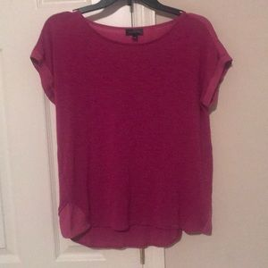 The Limited Small Magenta Cuff Sleeve Top Blouse